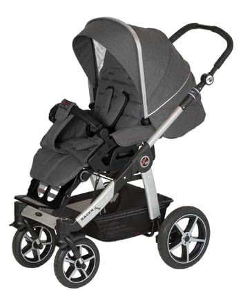 Hartan兒童推車 Racer GTS -  * Hartan's pran Racer GTS features ultimate comfort and trendy design and is super easy to use. Its extra-large single swivel wheels contribute to its manoeuvrability so that you can master any strolls even on rough surfaces.