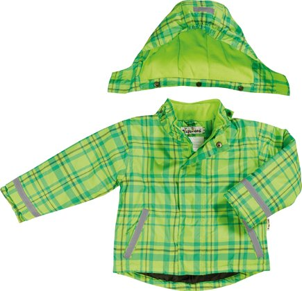 Playshoes snow jacket in a green/turqouise checked pattern 2016 - 大圖像