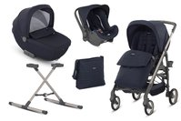 Inglesina Otutto Deluxe豪華推車組合 -  * The Inglesina Otutto Deluxe System is an absolute must-have that accompanies you and your child from birth into toddlerhood. This all-round set contains a pushchair, a carrycot, an infant car seat carrier, a stand, a changing bag, a footmuff as well as a rain cover – the perfect baby equipment for on the go.