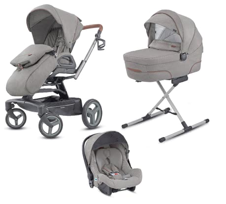 Inglesina 兒童推車 Quad System Quattro -  * Thanks to the Inglesina Quad System you and your little one are well-equipped right from birth up to toddlerhood. The four-part set comes with the pushchair Quad, a carrycot, an infant car seat carrier and a changing bag – thus you can use the Quad System for a long time.