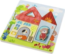 Haba 木質拼圖小熊之家 - * The Haba wooden puzzle with bears will support your little one's fine motor skills and suitable for children aged 1 ½ years.