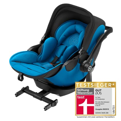 kiddy 嬰兒提籃 evo-luna i-Size 2,含底座kiddy isofix base 2 - * The unique kiddy evo-luna i-Size 2 has proved to be successful and was awarded test winner in the current assessment of Stiftung Warentest 2018. This outstanding result was achieved by its unique selling points – the lying function in the car and its usability as travel system.
