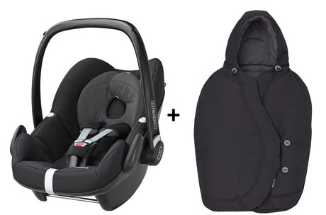 Maxi-Cosi infant carrier Pebble incl. Foot muff Black Raven 2017 - 大圖像