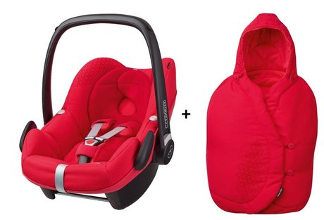 Maxi-Cosi infant carrier Pebble incl. Foot muff Origami Red 2016 - 大圖像