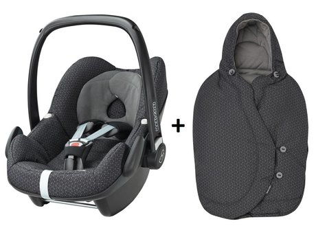 Maxi-Cosi infant carrier Pebble incl. Foot muff Black Crystal 2016 - 大圖像
