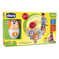 Chicco 保齡球 兒童玩具 -  * Play, stack and ... Monkey Strike! Your child will love this colourful bowling set.