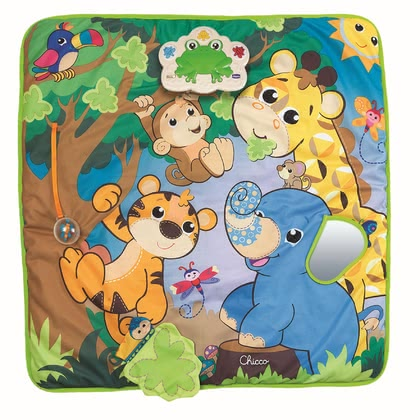 Chicco 音樂叢林遊戲墊 - * Chicco playing mat music jungle – A gorgeous jungle with a lot of suprises is waiting for your child.