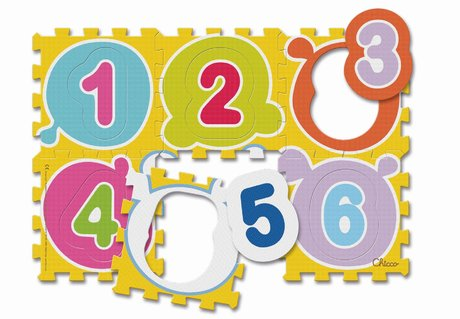 Chicco 數字與動物巧拼地墊 - * – Chicco puzzle mats numbers & animal - The colourful puzzle mats numbers & animals invite your child to puzzle and study.
