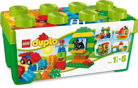LEGO Duplo 樂高得寶 大號顆粒盒 - The LEGO Duplo All-In-One Box of Fun set has a whole load of Duplo bricks for fun building and rebuilding for creative play.