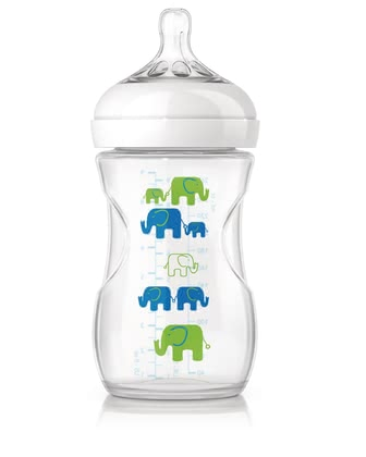 AVENT 大象圖案安撫奶瓶,男孩款 - * AVENT Naturnah bottle Elephant boys – According to the nature's example – Now available for your little one with a cute elephant.