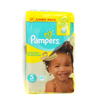 Pampers 幫寶適 Premium Protection 五號 Junior,超大包裝 - * Pampers premium protection diaper size 5 junio – jumbo pack – Small diaper wearers prefer these kind of diapers since they offer a silky smooth fleece and wearing comfort.