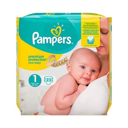 Pampers 幫寶適 Premium Protection 一號,新生兒 - * Pampers premium protection diaper size 1 – new baby – will offer your newborn the best comfort weighing 2 kg.