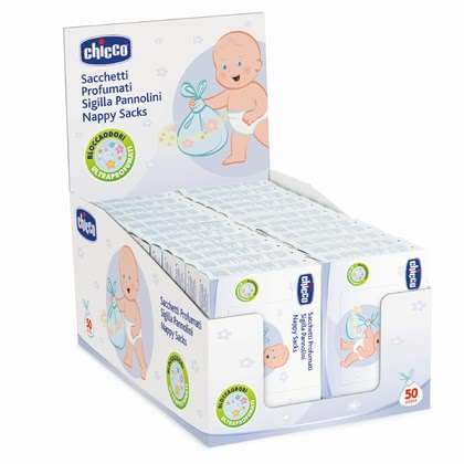 Chicco 香味尿布垃圾袋 - * Chicco perfumed diaper bag – Perfect for the removal of used diapers.