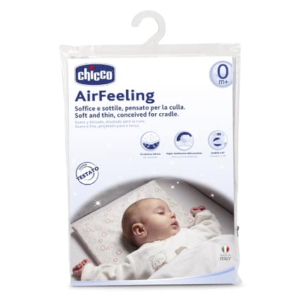 "Chicco 婴儿床透气枕,零个月以上适用 - * Chicco pillows Airfeeling for a crib, 0m+ - The soft pillow ""Airfeeling"" by Chicco supports the supine position from birth on."