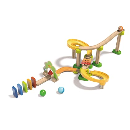 "Haba Kullerbü 滾珠軌道玩具 ""Sim-Sala-Kling"" - * My First Ball Track - Basic Pack Sounds - Ring-a-ding-a-ling, now music joins the first rolling fun. It's a lot of fun and also stimulates auditory skills."