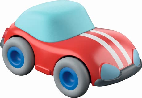 HABA 紅色玩具車 -  * The red speedster from the Kullerbü range will add even more fun to each race on the ball track.