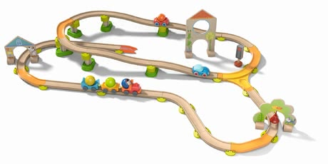 "Haba Kullerbü 軌道玩具 ""Sause-Stadt"" - * Haba Kullerbü play track ""Sause-Stadt"" – The ""Sause-Stadt"" provides a lot of fun and variety in your children's room."