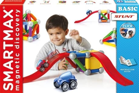 SMARTMAX 磁性玩具基本特技套组 - * SMARTMAX Basic Stunt – Magnetism is simply compelling – especially children are fascinated by the SMARTMAX Basic Stunt as magnetic construction set.