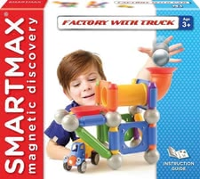 SMARTMAX 磁性玩具卡车工厂 - * SMARTMAX Factory with Truck – Attention little trucker fans – the SMARTMAX Factory with Truck provides a lot of entertainment.