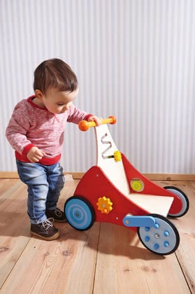 "Haba 探险车 ""Klick Klack"" - * Haba discoverer's carriage ""click clack"" – The carriage accompanies your child on his/her first steps."