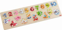 "Haba 手抓拼图""小动物的数字游戏"" - * Haba grasping puzzle ""number fun"" – Discover a world of animals and learn the numbers from one to ten."