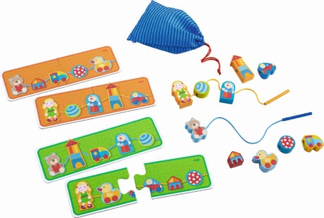 "Haba 穿線玩具 ""Lieblingsspielsachen"" - * Haba threading game"" favourite toys"" – Thread up all the different favourite toys."