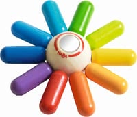 "Haba 手抓搖鈴 ""彩色太陽"" - * Haba grasping toy ""Colourful sun"" – This toy makes your child radiate almost like the sun."