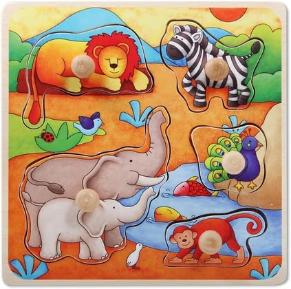 Beeboo 拼图 - * Beeboo puzzle – A colourful puzzle by Beeboo for children aged ten months.