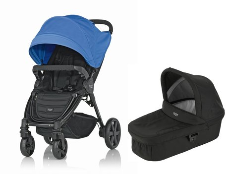 Britax 儿童推车 B-Agile 4 Plus,含晴雨两用罩 Canopy Pack + 睡篮 Hard Carrycot Ocean Blue 2017 - 大圖像