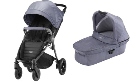 Britax 儿童推车 B-Motion 4 Plus,含晴雨两用罩 Canopy Pack + 睡篮 Hard Carrycot Blue Denim 2019 - 大圖像