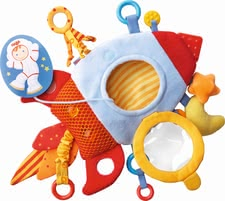 "Haba 玩具抱枕""火箭"" - * Haba Teether Cuddly ""Rocket"" – This articles includes a teething component and provides a lot to discover."
