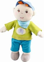 "Haba 绒毛玩具""Jonas"" - * Haba Snup up Doll ""Jonas"" – The soft doll is a great companion for your little one."