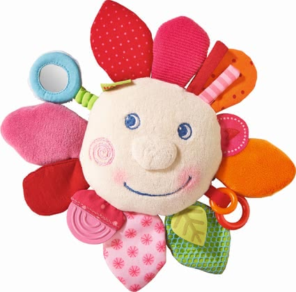 "Haba 玩具抱枕""春花"" - * Haba Teether Cuddly ""Spring flower"" – This teether blazes in a lot of great colours and offers plenty possibilities to discover."