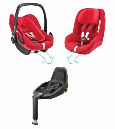 Maxi Cosi 兒童安全座椅2Way Family Concept Vivid Red 2018 - 大圖像