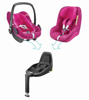 Maxi Cosi 兒童安全座椅2Way Family Concept Frequency Pink 2018 - 大圖像