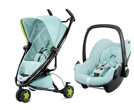 Quinny 儿童推车 Zapp Xtra 2.0,含Maxi Cosi 婴儿提篮 Pebble Blue Pastel 2016 - 大圖像