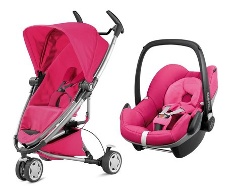 Quinny 儿童推车 Zapp Xtra 2.0,含Maxi Cosi 婴儿提篮 Pebble Pink Passion 2016 - 大圖像