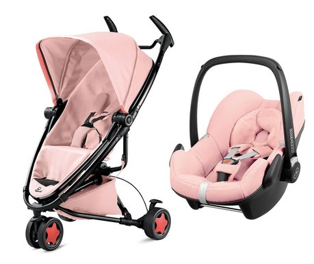 Quinny 儿童推车 Zapp Xtra 2.0,含Maxi Cosi 婴儿提篮 Pebble Pink Pastel 2016 - 大圖像