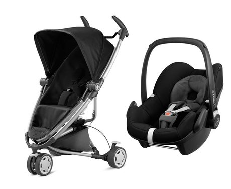 Quinny 儿童推车 Zapp Xtra 2.0,含Maxi Cosi 婴儿提篮 Pebble Rocking Black 2016 - 大圖像