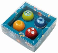 "HABA Kullerbü Discovery Balls – Set of 4 -  * The four fantastic discovery balls by HABA love to roll over ""My first Ball Track"" or through Kullerbü ball tracks."