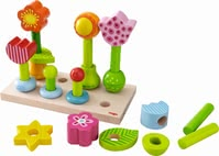 "Haba 堆栈玩具""花园"" - * Haba pegging game flower garden – This game is fun and supports the fine motor skills."