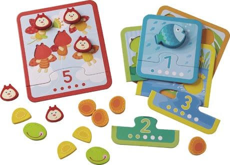"Haba 归类整理游戏 ""动物数字乐趣"" - * Haba matching game ""Animal Counting"" – Getting to know numbers and amounts to 5."