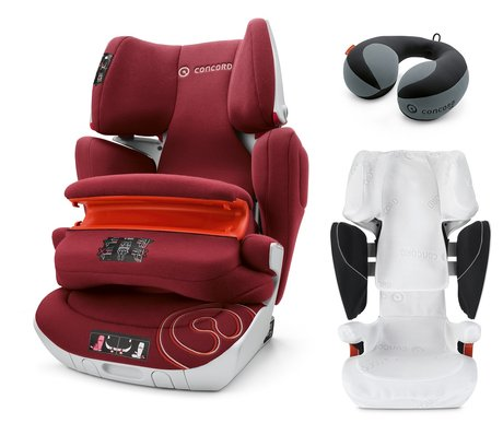 Concord Transformer XT PRO incl. summer cover Cooly + neck roll LUNA Bordeaux Red 2016 - 大圖像