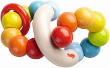 "Haba 摇铃玩具""彩色圈圈"" - * Haba clutching toy ""Color Whorl"" – This toy will brighten your child's eyes."
