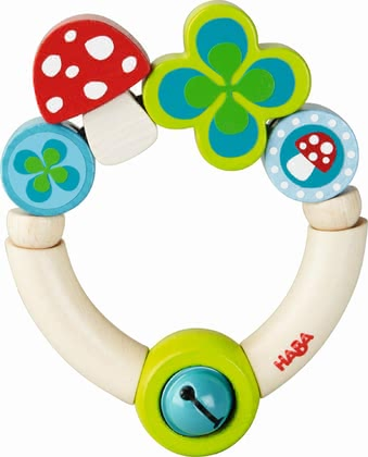 "Haba 摇铃玩具""幸运符"" - * Haba grasping toy ""Lucky charm"" – A great gift for birth or christening."