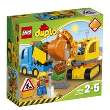 LEGO Duplo 樂高挖土機&貨車 - * LEGO Duplo digger & lorry – A great set for digging and having fun.