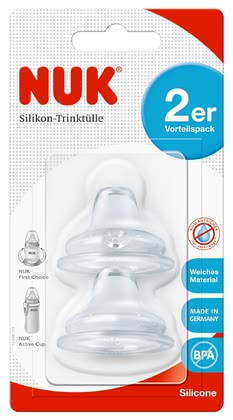 NUK FIRST CHOICE 柔軟鴨嘴型 矽膠奶嘴 2個裝 -  * The NUK Soft Spout is made of comfortably soft, BPA-free silicone and can be combined with any NUK FIRST CHOICE Baby Bottle as well as any NUK Active Cup. The material used is particularly durable, aesthetically pleasing and odourless.