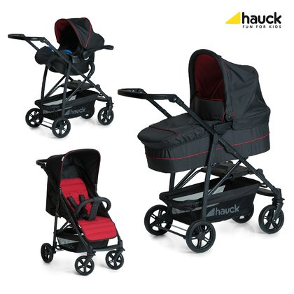 Hauck 三合一兒童推車組合 Rapid 4 Plus -  * The sporty Hauck Rapid 4 Plus Trio Set scores with its innovative and super smart folding mechanism. With this stroller you can save some of your precious time, since it can be folded quickly with only a few clicks.