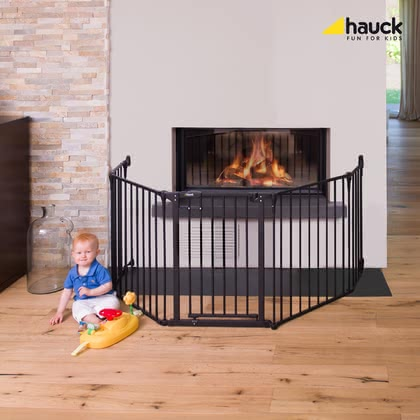 Hauck 壁爐護欄 Fireplace Guard XL -  * The Hauck Fire Guard XL surrounds your fireplace and keeps your little one at a distance.