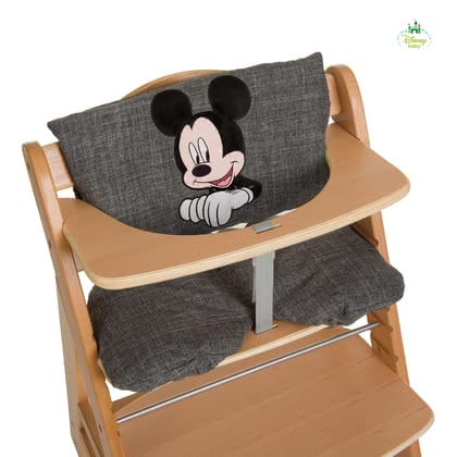 高腳餐椅坐墊  Deluxe 米奇&米妮 -  * The ultra-comfy High Chair Seat Pad Deluxe features Disney's Mickey & Minnie. Used either as a comfy padding or seat insert this seat pad is suitable for the Hauck Wooden High Chair Alpha + or similar high chair types.